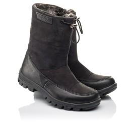 Детские зимние сапоги на меху Woopy Fashion черные для мальчиков натуральная кожа и нубук размер 30-39 (4503) Фото 1