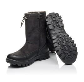 Детские зимові чоботи на хутрі Woopy Fashion черные для мальчиков натуральная кожа и нубук размер 30-39 (4503) Фото 2