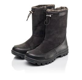 Детские зимние сапоги на меху Woopy Fashion черные для мальчиков натуральная кожа и нубук размер 30-39 (4503) Фото 3