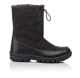 Детские зимові чоботи на хутрі Woopy Fashion черные для мальчиков натуральная кожа и нубук размер 30-39 (4503) Фото 4
