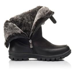 Детские зимние сапоги на меху Woopy Fashion черные для мальчиков натуральная кожа и нубук размер 30-39 (4503) Фото 5