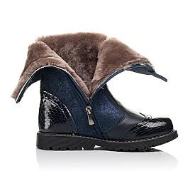Детские зимние сапоги на меху Woopy Fashion синие для девочек натуральная кожа и нубук размер 32-39 (4504) Фото 5