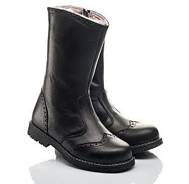 Детские зимние сапоги на меху Woopy Fashion черные для девочек натуральная кожа размер 33-39 (4505) Фото 1