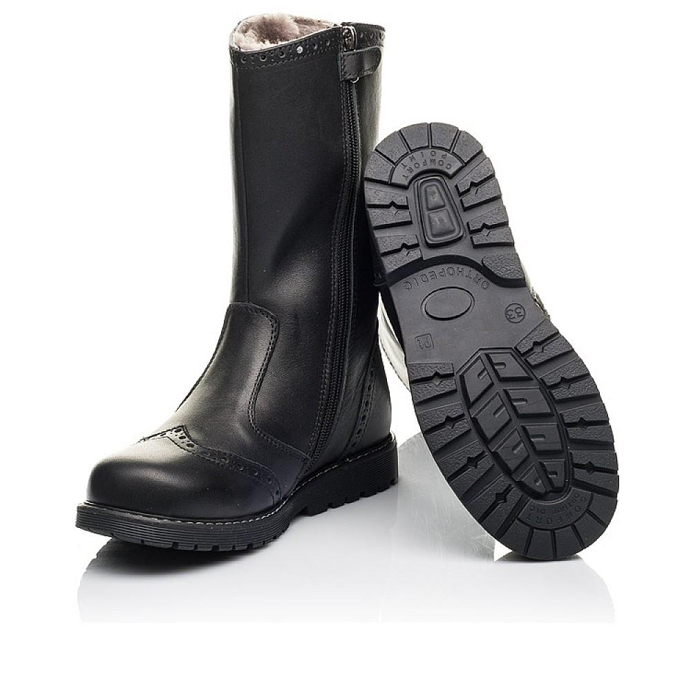 Детские зимние сапоги на меху Woopy Fashion черные для девочек натуральная кожа размер 31-40 (4505) Фото 2