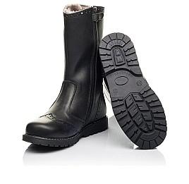 Детские зимние сапоги на меху Woopy Fashion черные для девочек натуральная кожа размер 32-39 (4505) Фото 2