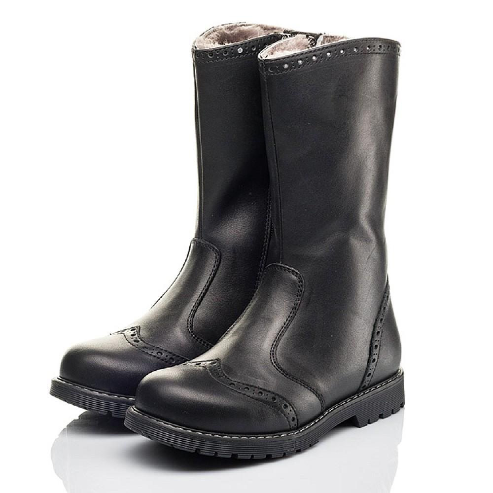 Детские зимние сапоги на меху Woopy Fashion черные для девочек натуральная кожа размер 31-40 (4505) Фото 3