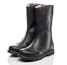 Детские зимние сапоги на меху Woopy Fashion черные для девочек натуральная кожа размер 32-39 (4505) Фото 3