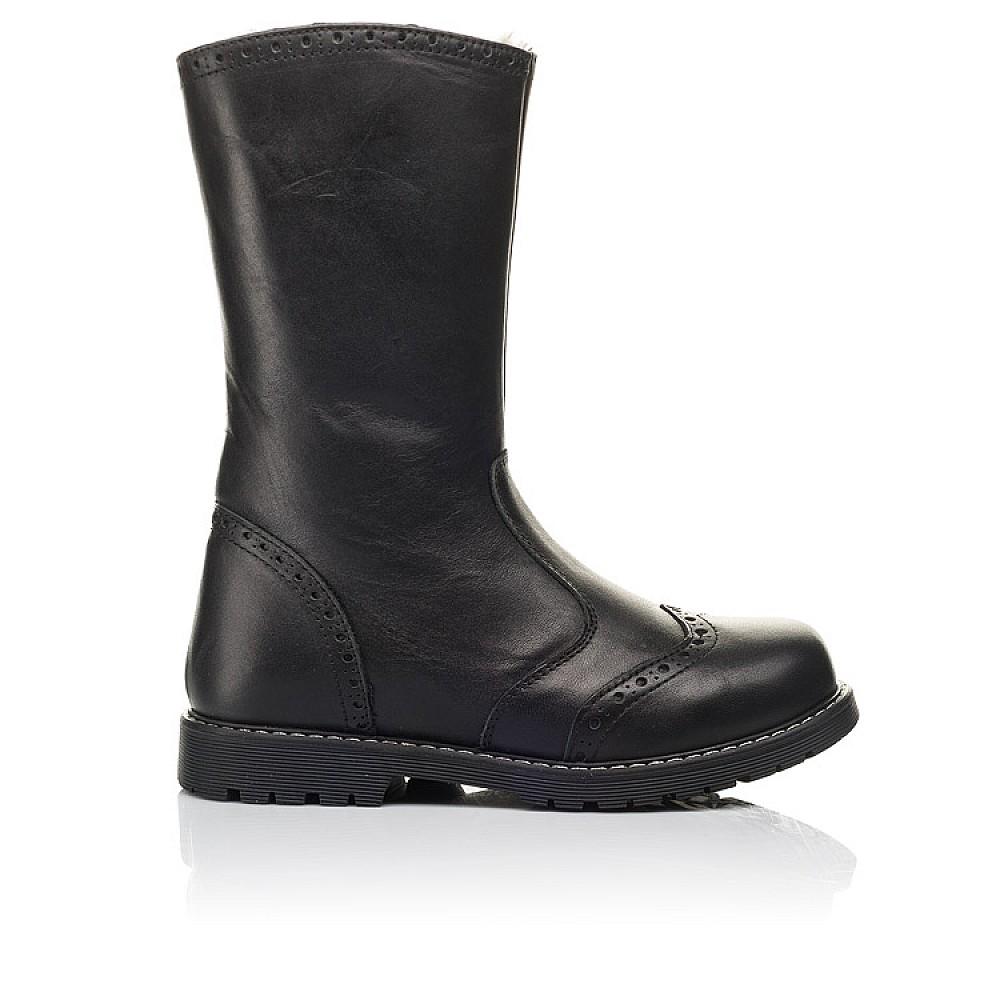 Детские зимние сапоги на меху Woopy Fashion черные для девочек натуральная кожа размер 31-40 (4505) Фото 4