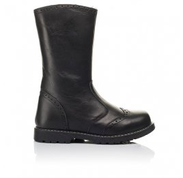Детские зимние сапоги на меху Woopy Fashion черные для девочек натуральная кожа размер 32-39 (4505) Фото 4