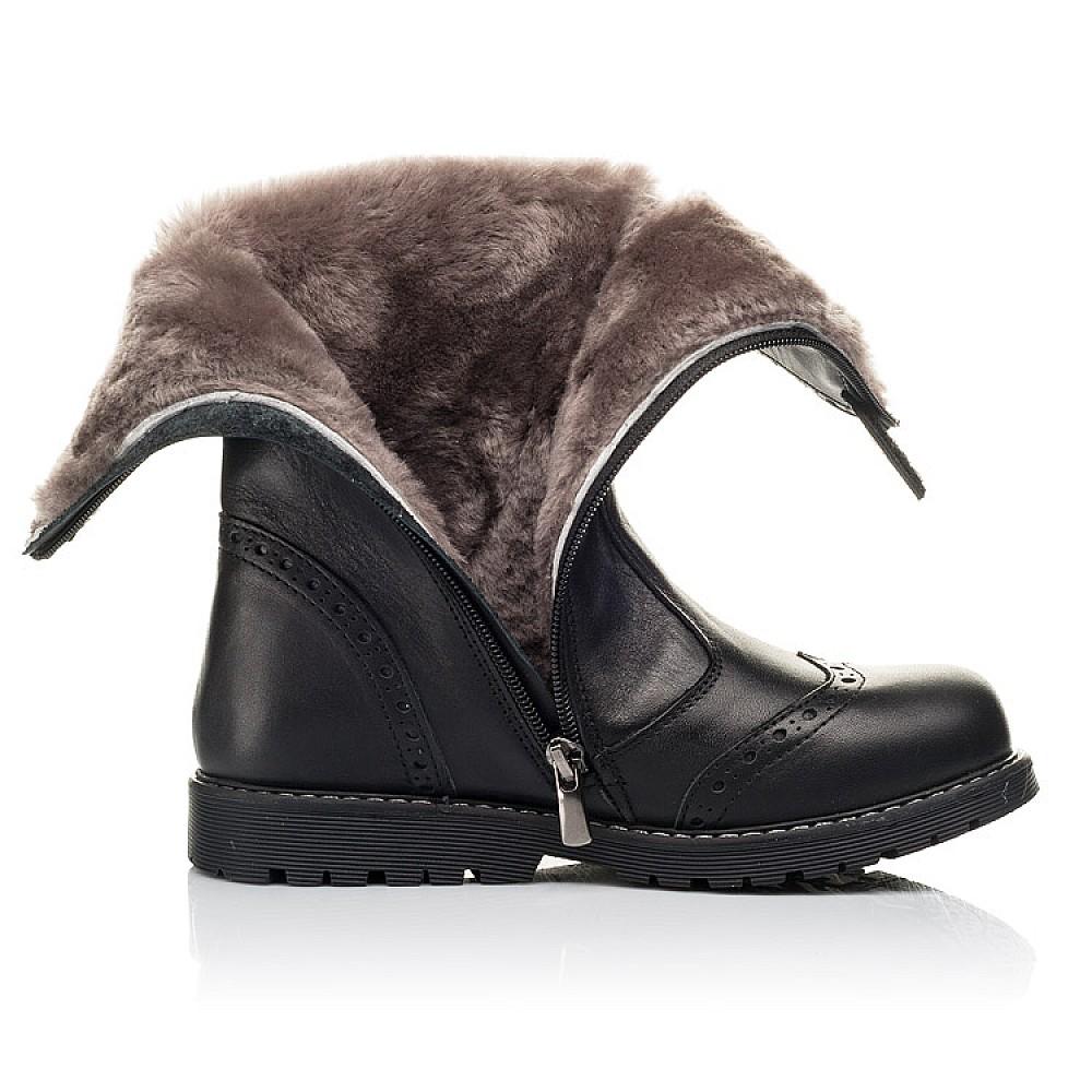 Детские зимние сапоги на меху Woopy Fashion черные для девочек натуральная кожа размер 31-40 (4505) Фото 5