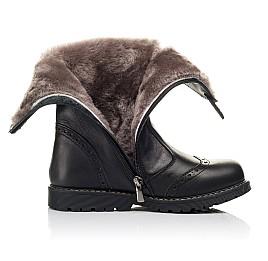 Детские зимние сапоги на меху Woopy Fashion черные для девочек натуральная кожа размер 33-39 (4505) Фото 5