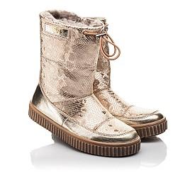 Детские зимние сапоги на меху Woopy Fashion золотые для девочек натуральная кожа размер 31-32 (4507) Фото 1