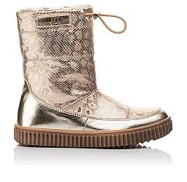 Детские зимние сапоги на меху Woopy Fashion золотые для девочек натуральная кожа размер 31-38 (4507) Фото 4
