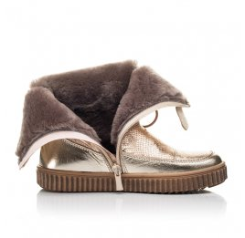 Детские зимние сапоги на меху Woopy Fashion золотые для девочек натуральная кожа размер 31-38 (4507) Фото 5
