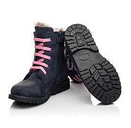 Детские зимние ботинки на меху Woopy Fashion синие для девочек натуральный нубук размер 22-29 (4508) Фото 2