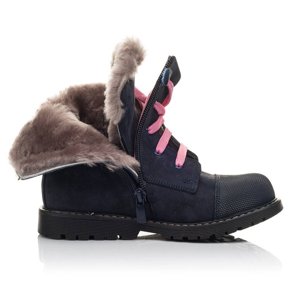 Детские зимние ботинки на меху Woopy Fashion синие для девочек натуральный нубук размер 22-37 (4508) Фото 5