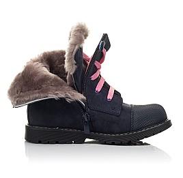 Детские зимние ботинки на меху Woopy Fashion синие для девочек натуральный нубук размер 22-29 (4508) Фото 5