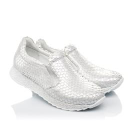 Детские кроссовки Woopy Fashion серебряные для девочек натуральный нубук размер 34-38 (5001) Фото 1