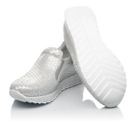 Детские кроссовки Woopy Fashion серебряные для девочек натуральный нубук размер 32-38 (5001) Фото 2