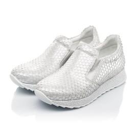 Детские кроссовки Woopy Fashion серебряные для девочек натуральный нубук размер 34-38 (5001) Фото 3
