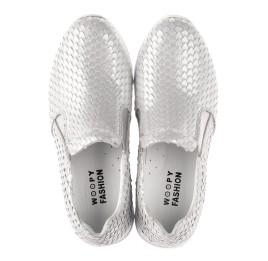 Детские кроссовки Woopy Fashion серебряные для девочек натуральный нубук размер 34-38 (5001) Фото 5