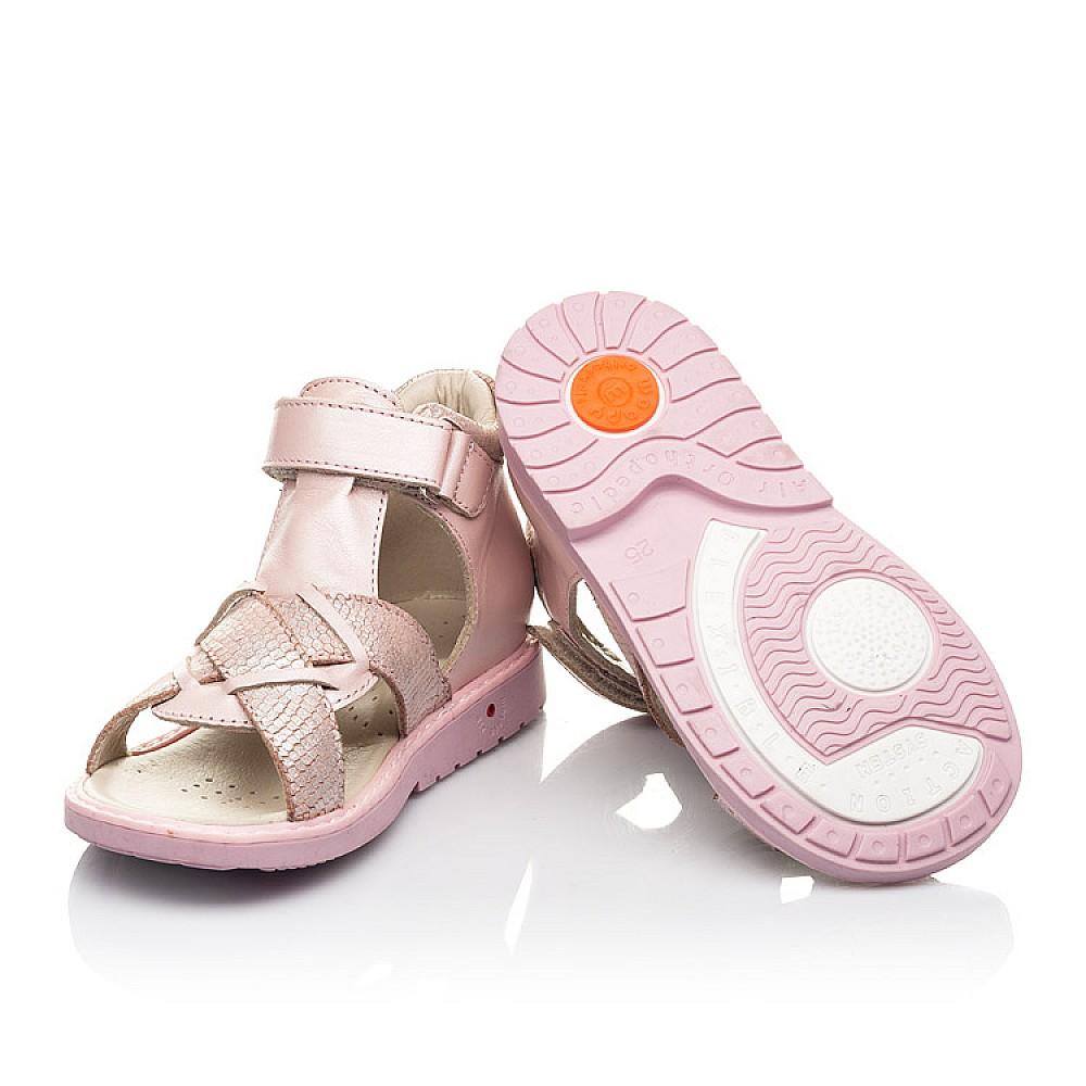 Детские босоножки Woopy Orthopedic розовые для девочек натуральная кожа и нубук размер 23-33 (5002) Фото 2