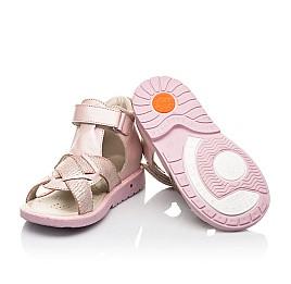 Детские босоножки Woopy Orthopedic розовые для девочек натуральная кожа и нубук размер 23-28 (5002) Фото 2