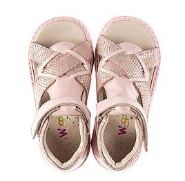 Детские босоножки Woopy Orthopedic розовые для девочек натуральная кожа и нубук размер 23-28 (5002) Фото 5