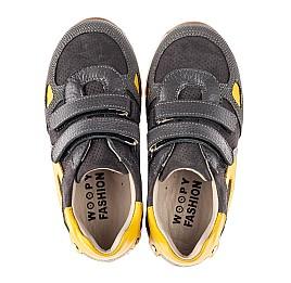 Детские кроссовки Woopy Fashion серые для мальчиков натуральная кожа и нубук размер 22-39 (5003) Фото 5
