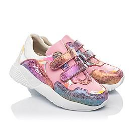 Детские кроссовки Woopy Fashion розовые для девочек натуральная кожа и нубук размер 27-37 (5004) Фото 1