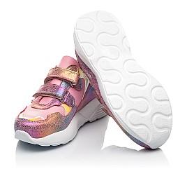Детские кроссовки Woopy Fashion розовые для девочек натуральная кожа и нубук размер 26-37 (5004) Фото 2