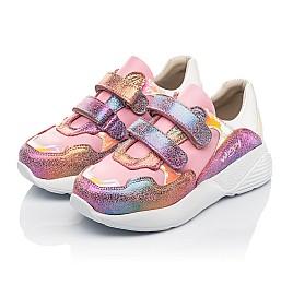 Детские кроссовки Woopy Fashion розовые для девочек натуральная кожа и нубук размер 27-37 (5004) Фото 3
