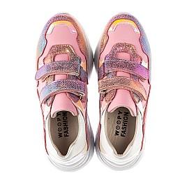 Детские кроссовки Woopy Fashion розовые для девочек натуральная кожа и нубук размер 27-37 (5004) Фото 5
