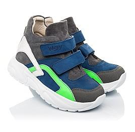 Детские демисезонные ботинки (внутри кожа) Woopy Fashion разноцветные для мальчиков натуральный нубук размер 29-36 (5005) Фото 1
