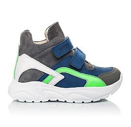 Детские демисезонные ботинки (подкладка кожа) Woopy Fashion разноцветные для мальчиков натуральный нубук и замша размер 26-36 (5005) Фото 4