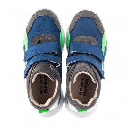 Детские демисезонные ботинки (подкладка кожа) Woopy Fashion разноцветные для мальчиков натуральный нубук и замша размер 26-36 (5005) Фото 5