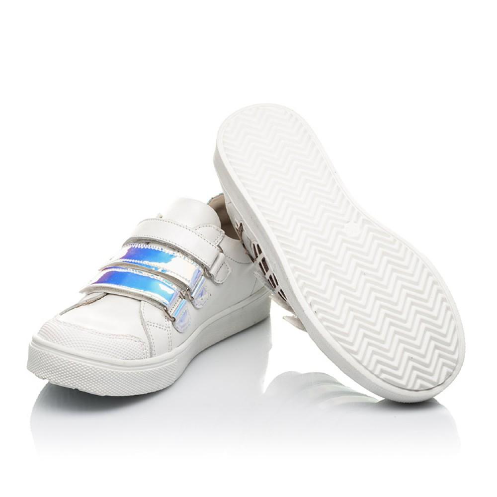Детские кеды Woopy Orthopedic белые для девочек натуральная кожа размер 22-39 (5008) Фото 2