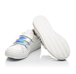 Детские кеды Woopy Orthopedic белые для девочек натуральная кожа размер 22-38 (5008) Фото 2