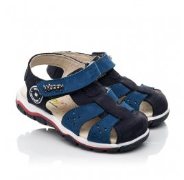Детские босоножки Woopy Fashion синие для мальчиков натуральный нубук размер 24-32 (5010) Фото 1