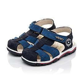 Детские босоножки Woopy Fashion синие для мальчиков натуральный нубук размер 24-33 (5010) Фото 3