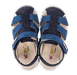 Детские босоножки Woopy Fashion синие для мальчиков натуральный нубук размер 24-33 (5010) Фото 5