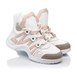 Детские кроссовки Woopy Fashion белые для девочек натуральная кожа размер 36-39 (5011) Фото 1