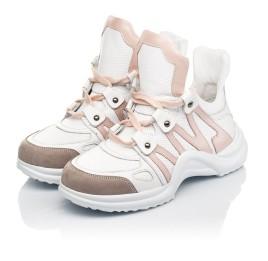 Детские кроссовки Woopy Fashion белые для девочек натуральная кожа размер 36-39 (5011) Фото 3