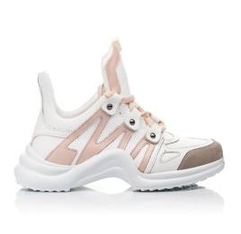 Детские кроссовки Woopy Fashion белые для девочек натуральная кожа размер 36-39 (5011) Фото 4