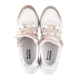 Детские кроссовки Woopy Fashion белые для девочек натуральная кожа размер 36-39 (5011) Фото 5