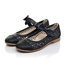 Детские туфли Woopy Fashion синие для девочек натуральная кожа, нубук размер 30-35 (5012) Фото 3