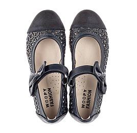 Детские туфли Woopy Fashion синие для девочек натуральная кожа, нубук размер 30-35 (5012) Фото 5