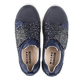 Детские кеды Woopy Fashion синие для девочек натуральный нубук и искусственный материал размер 27-37 (5013) Фото 5