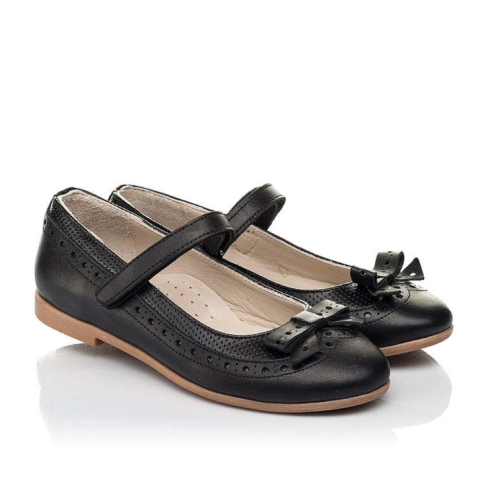 Детские туфли Woopy Fashion черные для девочек натуральная кожа размер 28-35 (5014) Фото 1