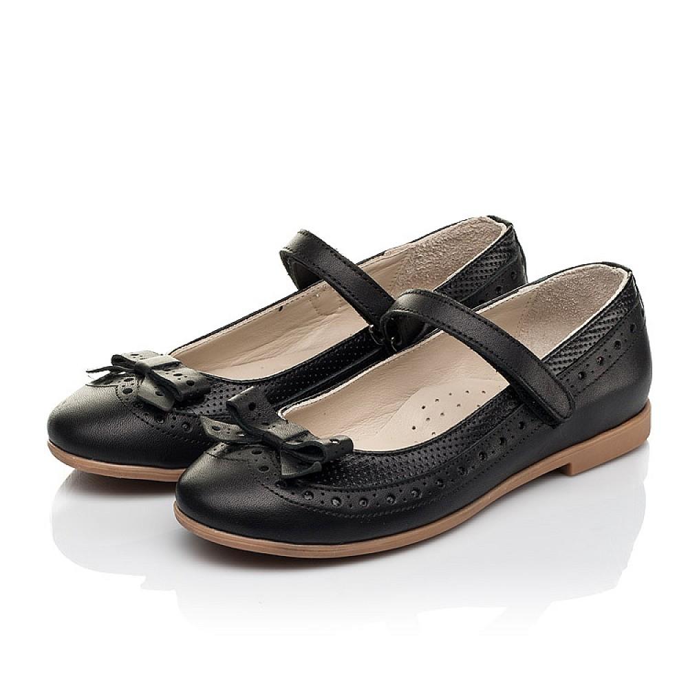 Детские туфли Woopy Fashion черные для девочек натуральная кожа размер 28-35 (5014) Фото 3
